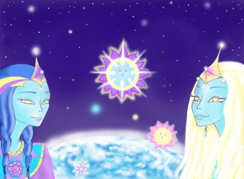 Les 2 etres cristal